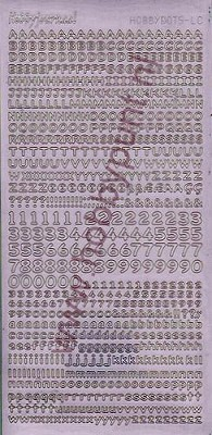 Hobbydots - Stickervel - Adhesive White - Serie Letters en Cijfers