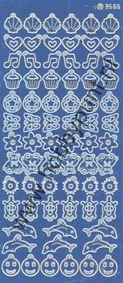 Charm / Bedel Stickers - Mirror Blue - 3565 (stch01A)
