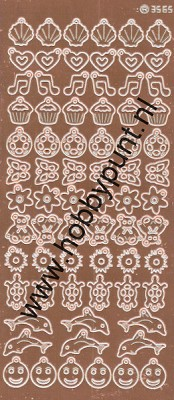 Charm / Bedel Stickers - Mirror Copper - 3565 (stch01B)