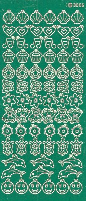 Charm / Bedel Stickers - Mirror Green - 3565 (stch012)