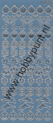Charm / Bedel Stickers - Mirror Ice - 3565 (stch015)