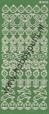 Charm / Bedel Stickers - Mirror Lime - 3565 (stch01C)