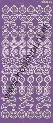 Charm / Bedel Stickers - Mirror Purple - 3565 (stch019)