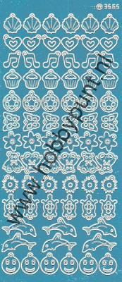 Charm / Bedel Stickers - Mirror Turquoise - 3565 (stch01D)