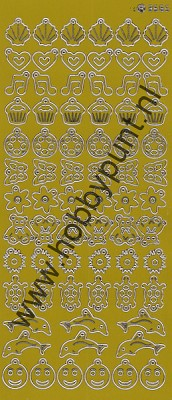 Charm / Bedel Stickers - Mirror Yellow - 3565 (stch01E)
