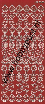 Charm / Bedel Stickers - Mirror Red - 3565 (stch014)