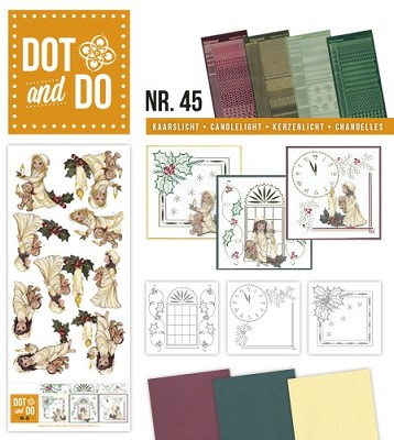 Hobbydots - Dot en Do Set 45 - Amy Design - Kaarslicht - Dodo-045