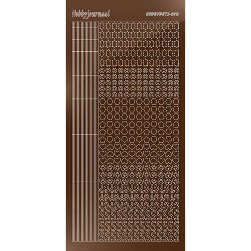 Hobbydots Serie 10 - Stickervel - Mirror Brown - (stdm10G)