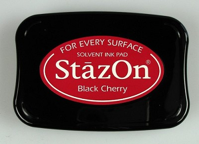 Stempelkussen - Stazon Ink pad black cherry - SZ-000-022
