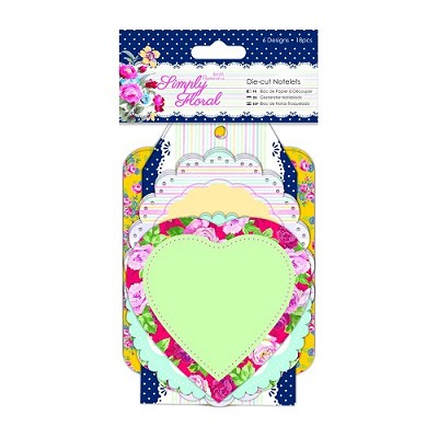 Die-cut Notelets - Simply Floral- Docrafts - PMA 157246