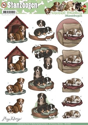 Push Out - Amy Design - Animal Medley - Dogs - Carddeco - SB10025
