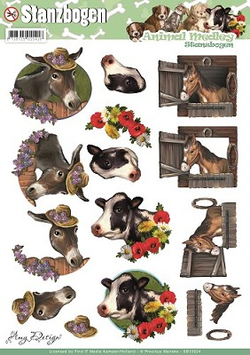 Push Out - Amy Design - Animal Medley - Horse and Cow - SB10024