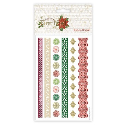 Rub-on Borders - First Noel- Docrafts - PMA 822103