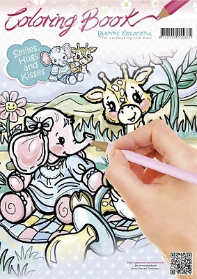 Coloring Book - Yvonne Creations - Smiles, Hugs and Kisses - YCCB10002