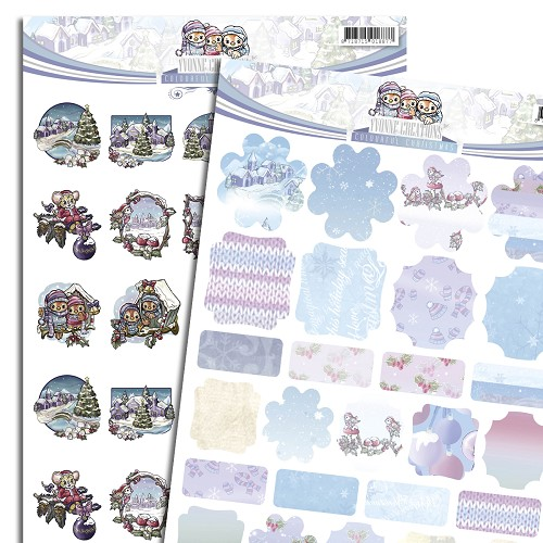3D Knipvel - Push Out - Yvonne Creations - Colourful Christmas - Minis & Labels SETCD10523