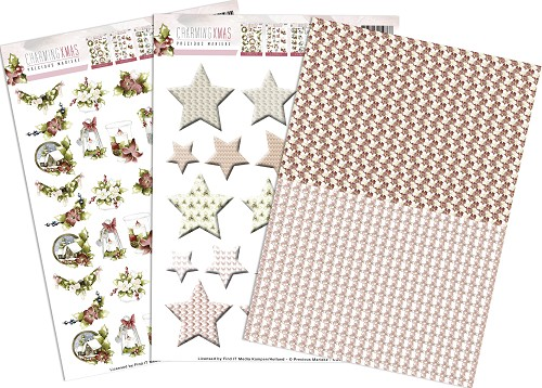 3D Knipvel - Push Out - Precious Marieke - Charming Xmas - Minis & Labels