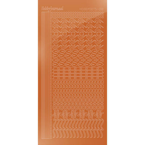 Hobbydots Serie 18 - Stickervel - Mirror Copper - (stdm18B)