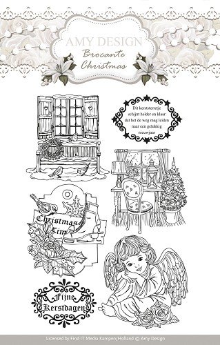 Clearstamp - Amy Design - Brocante Christmas - ADCS10002