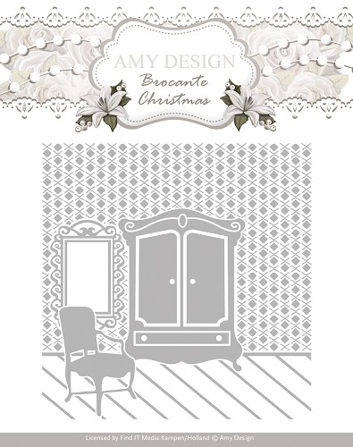 Embossing Folder - Amy Design - Brocante Christmas - ADEMB10003