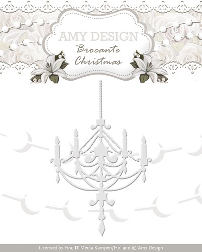 Die - Amy Design - Brocante Christmas - Chandelier - ADD10034