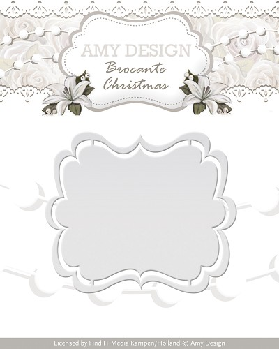 Die - Amy Design - Brocante Christmas - Label - ADD10032