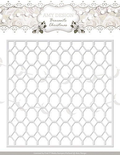 Snij- en Embosmal - Brocante Christmas - Wire Frame - Amy - ADD10031