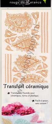 Keramiek Transfers - Mitchell - Ornamente - Paisley orange