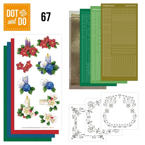 Hobbydots Dot and Do set 67 - Christmas Candles - Jeanines Art - Dodo-067