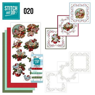 Stitch en Do Set 20 - Yvonne Creations - Christmas Tweety - STDO020