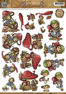 3D Knipvel - Yvonne Creations - Fall Favourites - Sweet Gnomes - CD10557