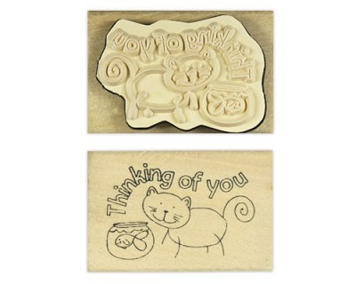 Houten Stempel - Thinking of You - Docrafts - Anita`s - ANT906210
