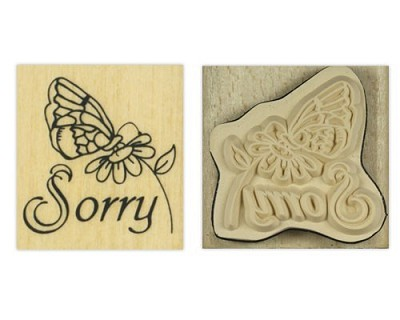 Houten Stempel - Sorry - Docrafts - Anita`s