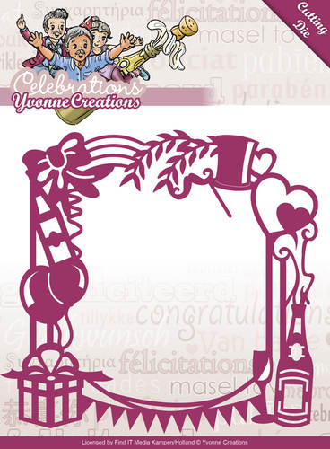 Die - Yvonne Creations - Celebrations - Party Frame - YCD10051