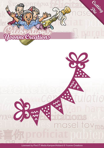 Die - Yvonne Creations - Celebrations - Bunting - YCD10049