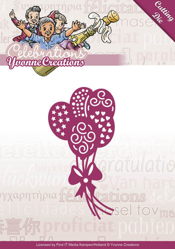 Die - Yvonne Creations - Celebrations - Balloons - YCD10048