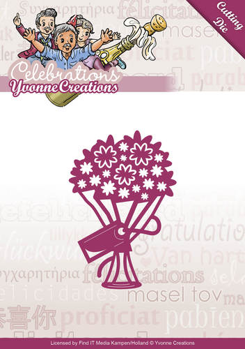 Die - Yvonne Creations - Celebrations - Bouquet - YCD10047