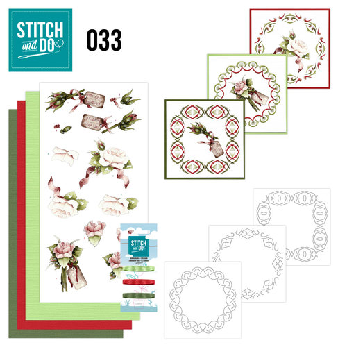 Stitch and Do Set 33 - Roses - Precious Marieke - Stdo033