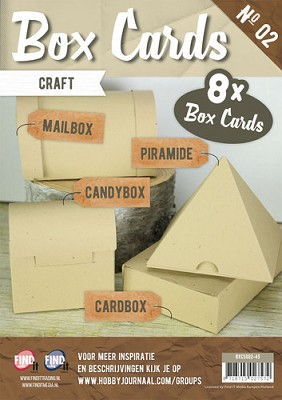 Box Cards 2 - Craft (Cappuccino) - Carddeco - Bxcs002-45