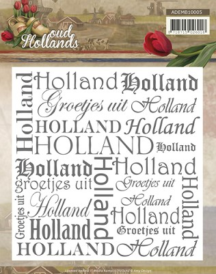 Embossing Folder - Amy Design - Oud Hollands - ADEMB10005
