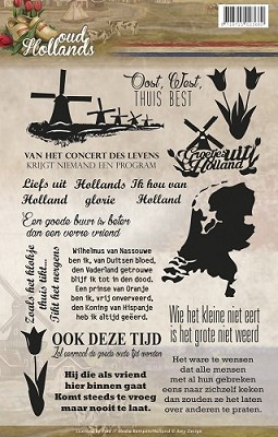 Clearstamp - Amy Design - Oud Hollands Tekst - ADCS10006