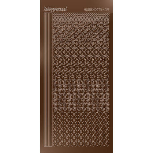 Hobbydots Serie 19 - Stickervel - Mirror Brown - (stdm19G)