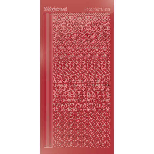 Hobbydots Serie 19 - Stickervel - Mirror Christmas Red - (stdm19H)