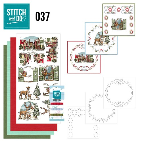 Stitch and Do 37 - Kerstversieringen - Yvonne Creations - STDO037
