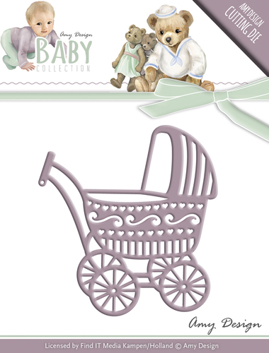Die - Amy Design - Baby Collection - Baby Carriage - ADD10054