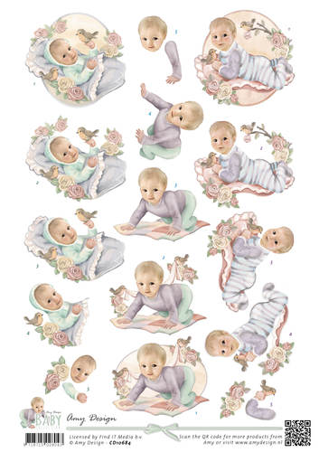 3D Knipvel - Amy Design - Baby Collection - Vintage baby - CD10684