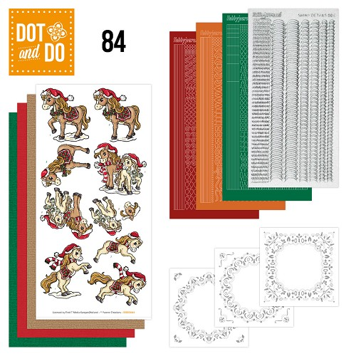 Dot and Do 84 - Yvonne Creations - Kerstpaarden - Dodo084