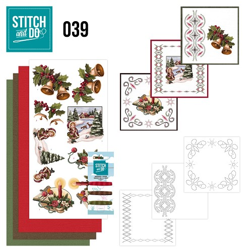 Stitch and Do 39 - Christmas Greetings - Amy design - Stdo039