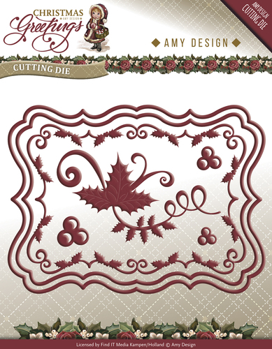 Die - Amy Design - Christmas Greetings - Christmas Card Set - ADD10066