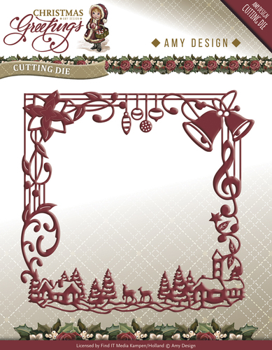 Die - Amy Design - Christmas Greetings - Frame - ADD10065