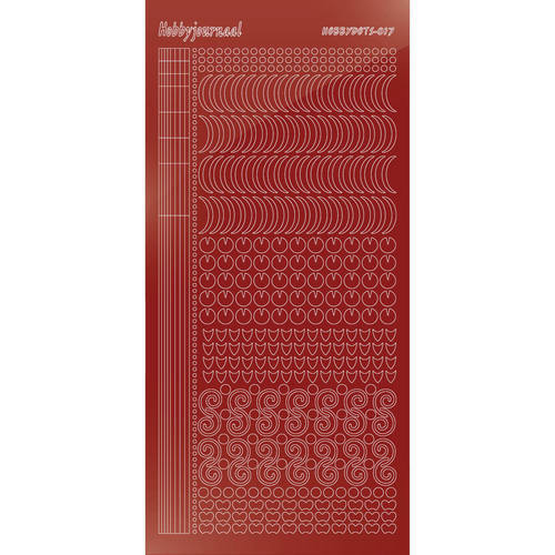 Hobbydots - Stickervel - Mirror Christmas Red - Serie 17 (stdm17H)